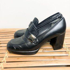 Vintage Platform Mary Jane Loafers